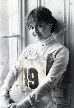 Charlotte Attenborough Actress.. Filming Tv Series 'may We Borrow Your Husband' In Harrogate Yorkshire Dressed For Polo... Original Library Print Filed In Packet: Charlotte Attenborough