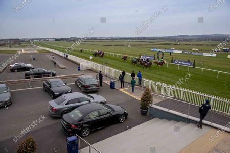 The Irish Stallion Farms EBF Maiden. A view of the race