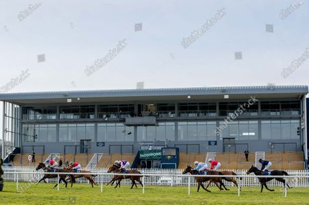 The Naas Nursery Of Champions Maiden. A view of the race run in front of an empty stand at Naas