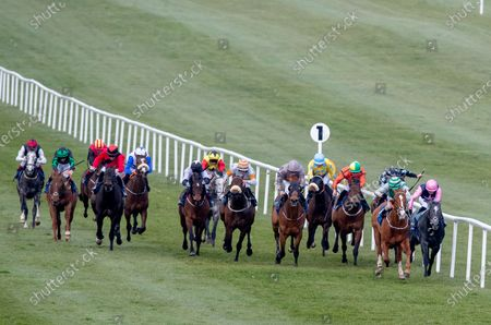 The Naas Racecourse Launches The 2020 Irish Flat Season Handicap. Shane Foley onboard Fastar leads the field to win the race