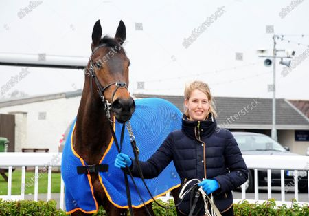 NAAS. LEMISTA and groom Margo Heringks after their win for trainer Ger Lyons.