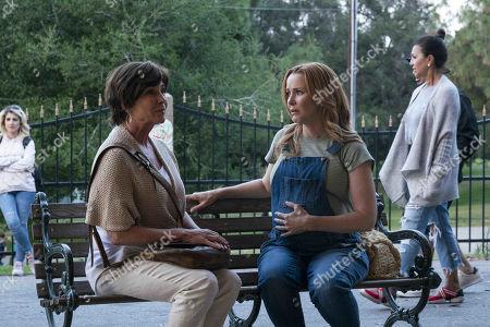 Stock Image of Kathleen Quinlan as Susan Ellerh and Annie Wersching as Leslie Dean