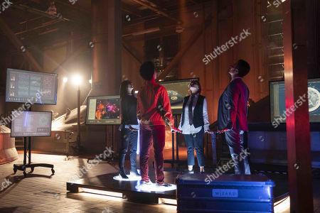 Brittany Ishibashi as Tina Minoru, Rhenzy Feliz as Alex Wilder, Brigid Brannagh as Stacey Yorkes and James Marsters as Victor Stein