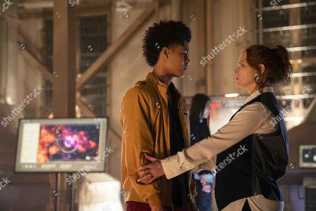 Rhenzy Feliz as Alex Wilder and Brigid Brannagh as Stacey Yorkes
