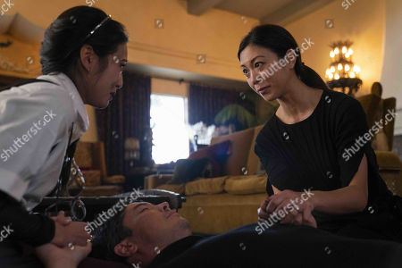 Lyrica Okano as Nico Minoru, James Yaegashi as Robert Minoru and Brittany Ishibashi as Tina Minoru