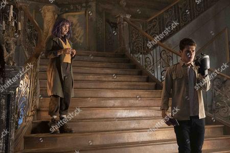 Ariela Barer as Gert Yorkes and Gregg Sulkin as Chase Stein