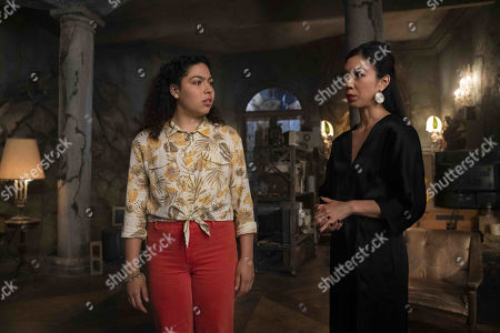 Allegra Acosta as Molly Hernandez and Brittany Ishibashi as Tina Minoru