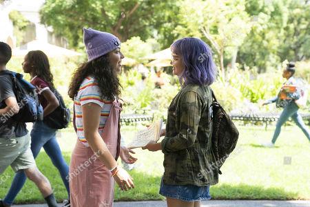Allegra Acosta as Molly Hernandez and Ariela Barer as Gert Yorkes