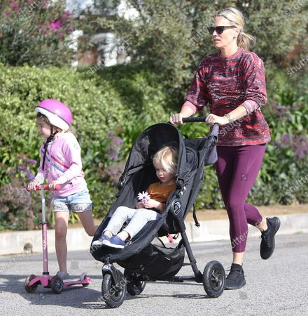 Molly Sims with her daughter Scarlett May Stuber and son Grey Douglas Stuber