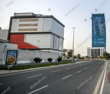 A view of deserted streets after curfew was imposed amid the outbreak of coronavirus, in Jeddah, Saudi Arabia, 24 March 2020.  Saudi Arabia's King Salman bin Abdulaziz Al Saud has announced a nation-wide curfew from dawn to dusk starting from 24 March for the duration of 21 days. According to local media reports Saudi Arabia has registered 51 new cases on 23 March bringing the total to 562 cases, 19 of them have recovered.