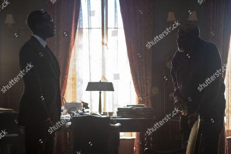 Yahya Abdul-Mateen II as Cal Abar and Lou Gossett Jr as Will Reeves