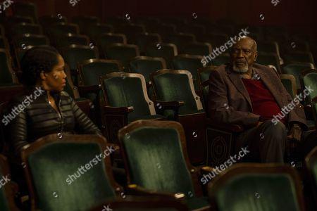 Regina King as Angela Abar/Sister Night and Lou Gossett Jr as Will Reeves