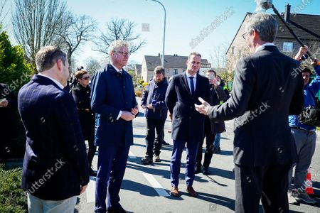 Minister of the Interior Affairs, Pieter De Crem, makes a working visit to La Calamine where he observes border control work due to the Corona Virus - COVID-19