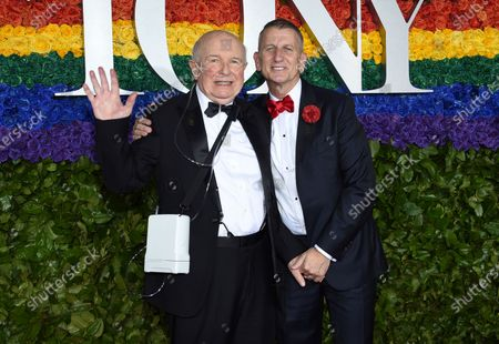 "Playwright Terrence McNally, left, and Tom Kirdahy at the 73rd annual Tony Awards in New York. McNally, one of America's great playwrights whose prolific career included winning Tony Awards for the plays ""Love! Valour! Compassion!"" and ""Master Class"" and the musicals ""Ragtime"" and ""Kiss of the Spider Woman,"" died, of complications from the coronavirus. He was 81"