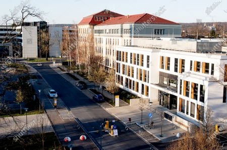 Stock Picture of A general view shows the main entrance of the University Hospital Carl Gustav Carus, in Dresden, Germany, 24 March 2020. According to Germany's Saxony state Prime Minister Michael Kretschmer, two Saxony Free State hospital will recieve Covid-19 patients from Italy who are unable to receive treatment in their own country.