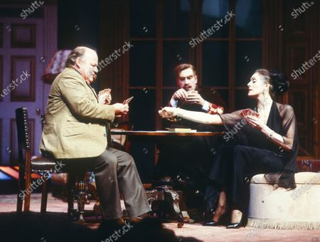 Editorial image of 'The Real Inspector Hound' Play performed at the National Theatre, London, UK - 1985