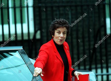 Secretary Of State For Education Gillian Shepherd Now Baroness Shephard Of Northwold Arriving For Cabinet Meeting.