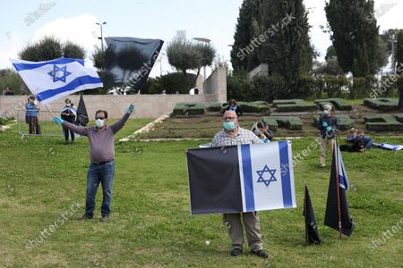 Editorial photo of Protest outside Knesset parliament, Jerusalem - 25 Mar 2020