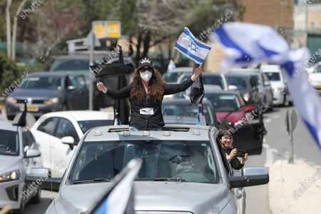 Editorial picture of Protest outside Knesset parliament, Jerusalem - 25 Mar 2020