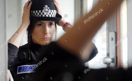 PC Kelly Jones getting ready to go on patrol