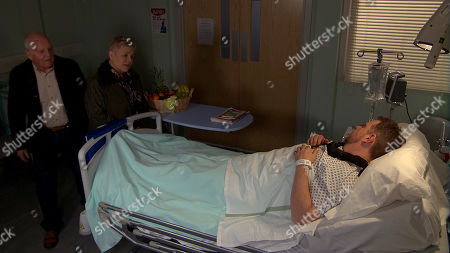 Ep 8770 Monday 30th March 2020 At the hospital, Pollard, as played by Chris Chittell, arrives to try and make peace between Dan Spencer, as played by LIAM FOX, and Brenda Hope, as played by Lesley Dunlop, and Dan agrees that hurling blame on Brenda won't improve his situation. Brenda tries to clear away the evidence of her crime but Mandy Dingle finds it. What will Mandy do with the evidence?