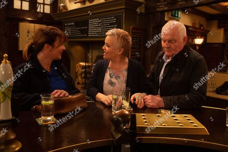Ep 8771 Wednesday 1st April 2020 With Wendy Posner, as played by Susan Cookson, Brenda Walker, as played by Lesley Dunlop, Eric Pollard, as played by Chris Chittell.