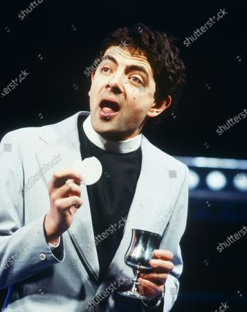 Editorial picture of Rowan Atkinson 1986