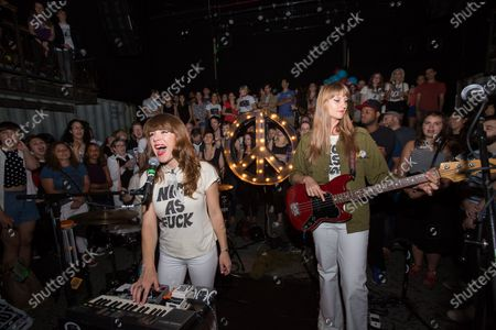 Stock Picture of Nice As Fuck indie rock trio made up of Jenny Lewis, Erika Forster (of Au Revoir Simone), and Tennessee Thomas (of The Like)