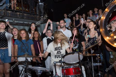 Editorial image of Nice As Fuck in concert at Rough Trade, Brooklyn, New York - 31 Jul 2016