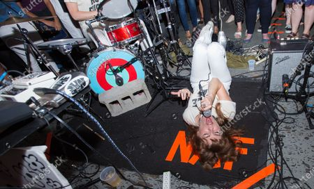 Editorial photo of Nice As Fuck in concert at Rough Trade, Brooklyn, New York - 31 Jul 2016