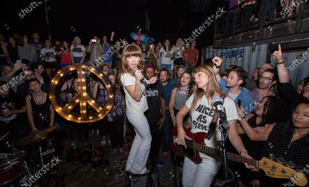 Stock Image of Nice As Fuck indie rock trio made up of Jenny Lewis, Erika Forster (of Au Revoir Simone), and Tennessee Thomas (of The Like)