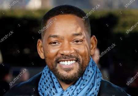 """Stock Photo of Actor Will Smith poses for photographers during the photo call of """"Bad Boys for Life,"""" in Paris. Smith says he was """"humbled and honored"""" after rapper Joyner Lucas released a tribute song honoring his career work. Lucas released the music video for his track """"Will,"""" on Monday, March 23, 2020"""