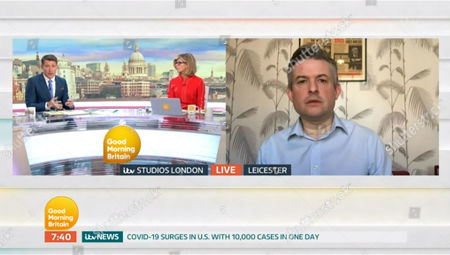 Editorial image of 'Good Morning Britain' TV show, London, UK - 26 Mar 2020