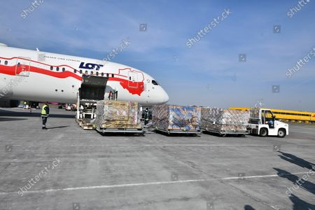 Editorial photo of Medical supplies from China landed in Poland, Warsaw - 26 Mar 2020