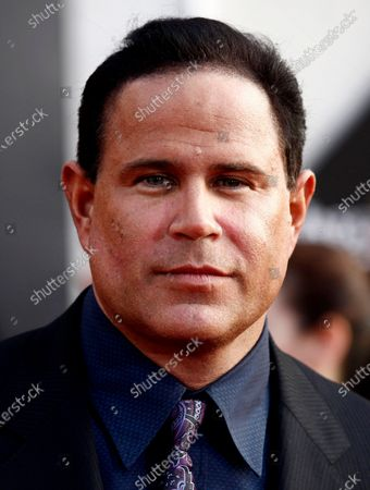 """Actor Keith Middlebrook at the premiere of """"Iron Man 2"""" at the El Capitan Theatre in Los Angeles. The FBI has arrested Middlebrook, who officials said falsely claimed to have developed a cure for the coronavirus and solicited investments in a company he said would market the medication. The U.S. Justice Department says in a statement that Keith Lawrence Middlebrook told his 2.4 million Instagram followers that his company would return hundreds of millions of dollars in profit. There are no known cures or vaccinations for the coronavirus"""