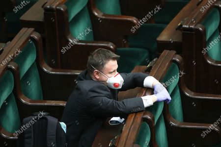 Editorial image of Parliamentary debate on statute changes regarding organisation in the Sejm, Warsaw, Poland - 26 Mar 2020