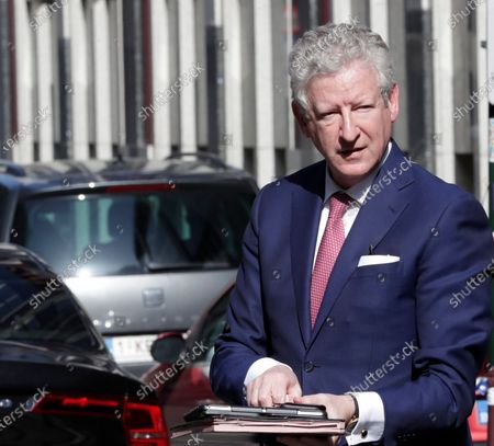 Belgian Minister of Interior Affairs Pieter De Crem arrives for a a National Security Council meeting on coronavirus in Brussels, Belgium, 27 March 2020. The National Security Council is expected to take new measures to fight the coronavirus Covid-19. In order to contain the spread of the pandemic, Belgium is implementing confinement guidelines for the public which is scheduled to be in place until 05 April 2020. Only supermarkets and essential trade will remain open. Countries around the world are taking increased measures to stem the further spread of the SARS-CoV-2 coronavirus which causes the Covid-19 disease.