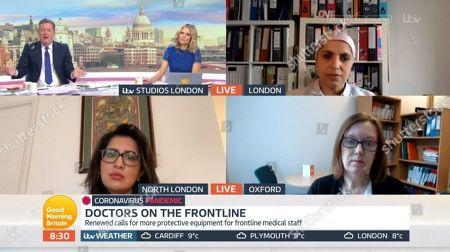Piers Morgan, Charlotte Hawkins, Professor Sara Gilbert, Dr Saleyha Ahsan, Dr Saumya Jha