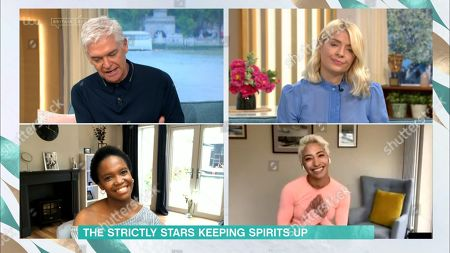Phillip Schofield, Holly Willoughby, Otlile Mabuse and Karen Clifton
