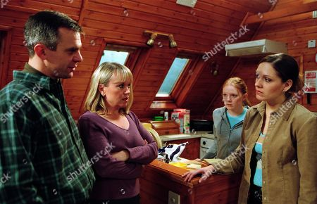 Ep 3112 Wednesday 13th February 2002 Relations in the Calder/Weston house reach an all-time low when Maggie tells Jess that she is not going on a skiing trip with her friends. When Jess mentions the strange earring found under Maggie's bed, Maggie accuses Jess of planting the earring to break her and Phil up. With Phil Weston, as played by Mark Jardine; Lucy Calder, as played by Elspeth Brodie; Jess Weston, as played by Ruth Abram; and Maggie Calder, as played by Dee Whitehead.