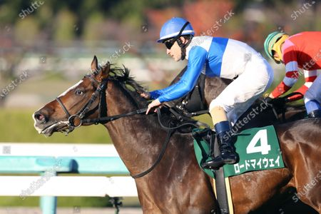 Lord My Way (Christophe Lemaire) - Horse Racing : Lord My Way and Christophe Lemaire win the Hanshin 11R Challenge Cup at Hanshin Racecourse in Hyogo, Japan.