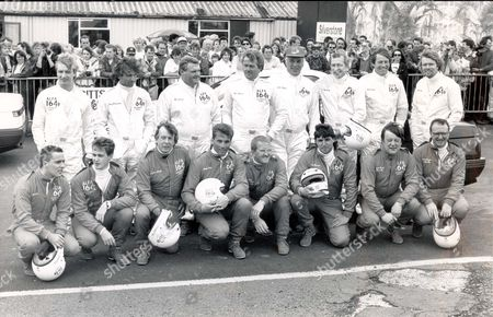 Writer - Nigel Dempster (died July 2007) 1981 At Silverstone Grand Prix Circuit Some 18 Celebrity Drivers Who Took Part In The Alfa Romeo Charity Series. L-r: Back Row: Christopher Dean John Francome Peter Bartles Ross Benson (died 03/2005) John Charles (died February 2004) Nigel Dempster (died July 2007) Bill Wiggins And Richard Branson. Front Row: Curt Smith (tears For Fears) Alan Clark (dire Straits) Jonathan Martin (bbc) Martin Bell Eddie Edwards Tony Knowles Kenneth Clarke And Dennis Taylor Pkt3433 - 254709