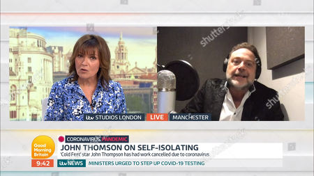 Lorraine Kelly and John Thompson