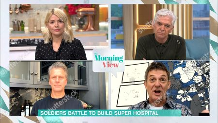 Holly Willoughby, Phillip Schofield, Andrew Castle and Matthew Wright