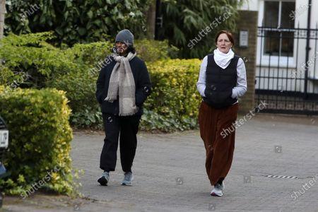 Stock Image of Exclusive - Fiona Shaw and wife Sonali Deraniyagala