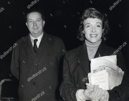 Micheline Presle French Actress Pictured With Rene De Messieres At Toulouse Aerodrome