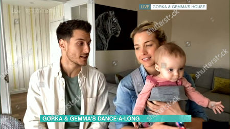 Gorka Marquez and Gemma Atkinson with their daughter Mia