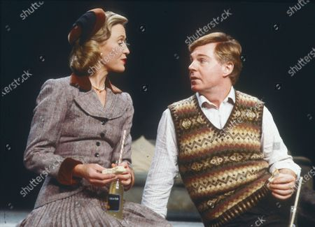 Stock Picture of Derek Jacobi. Joanna David