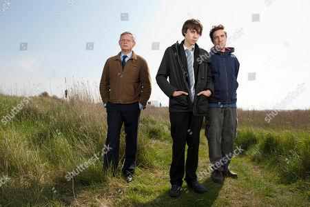 Martin Clunes as Ben, Alexander Arnold as Jamie and Paul McGann as David.