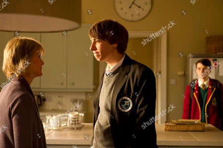 Stock Image of Hermione Norris as Rosie, Alexander Armstrong as Jamie and Jake Davies as Rob.